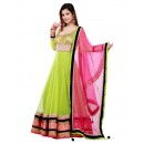 Bollywood Replica - Designer Net Parrot Green and Pink Anarkali Suit - S206 (SIA -S-Series)