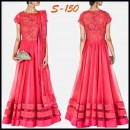 Bollywood Replica - Designer Pink Tulle Double Layered Anarkali - S150 (SIA -S-Series)