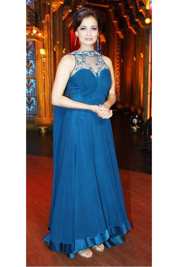 Bollywood Replica - Dia Mirza Gorgeous in Blue Color Floor Length Anarkali - D-30 (SIA-D-SERIES)
