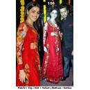 Bollywood Replica - Genelia D'souza in Beautiful Red Floral Anarkali Suit - 106 (SIA-213)