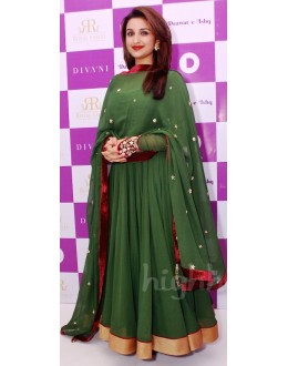 Bollywood Replica - Parineeti Chopra in Mehndi Green Anarkali - D-52 (SIA-D-SERIES)