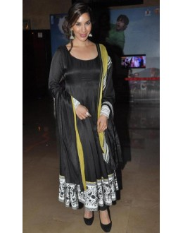 Bollywood Replica - Sophie Choudry in Black Anarkali Dress - D-35 (SIA-D-SERIES)