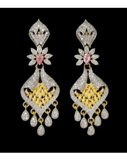 Designer Indian CZ Earrings - 91335