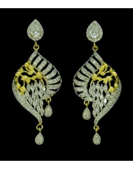 Fancy Indian CZ Earrings - 91347