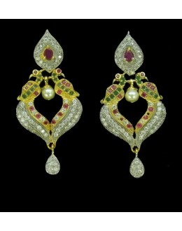 Designer Indian CZ Earrings - 91351