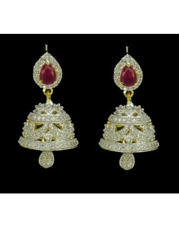 Designer Indian CZ Jhumka - 91375