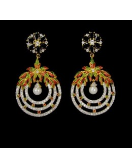 Designer Indian CZ Earrings - 91459