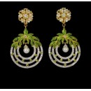 Festival Wear Indian CZ Earrings - 91461