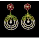 Festival Wear Indian CZ Earings - 91465