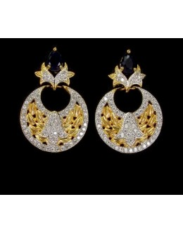 Designer Indian CZ Earrings - 91477