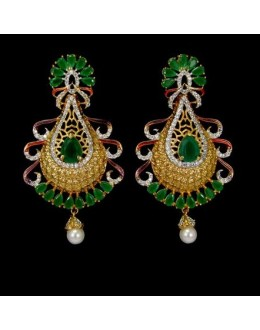 Designer Indian CZ Jhumka - 91495