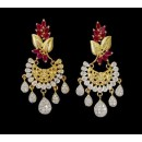Ethnic Wear Indian CZ Earrings - 91499