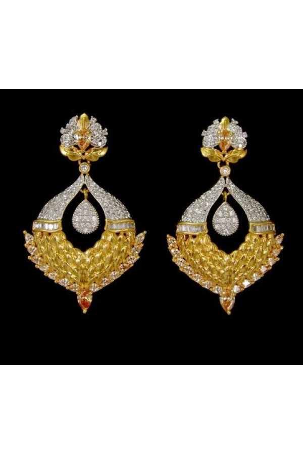 Designer Indian CZ Earrings - 91505