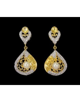 Designer Indian CZ Earrings - 91507