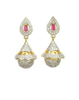Designer Indian CZ Jhumka - 86369