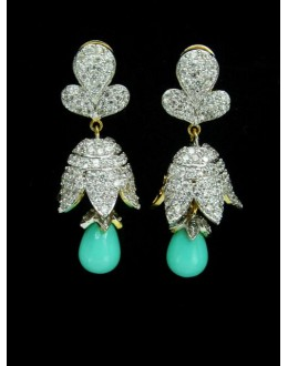 Designer Indian CZ Jhumka - 87359