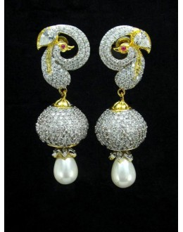 Designer Indian CZ Jhumka - 87367