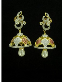 Designer Indian CZ Jhumka - 87450