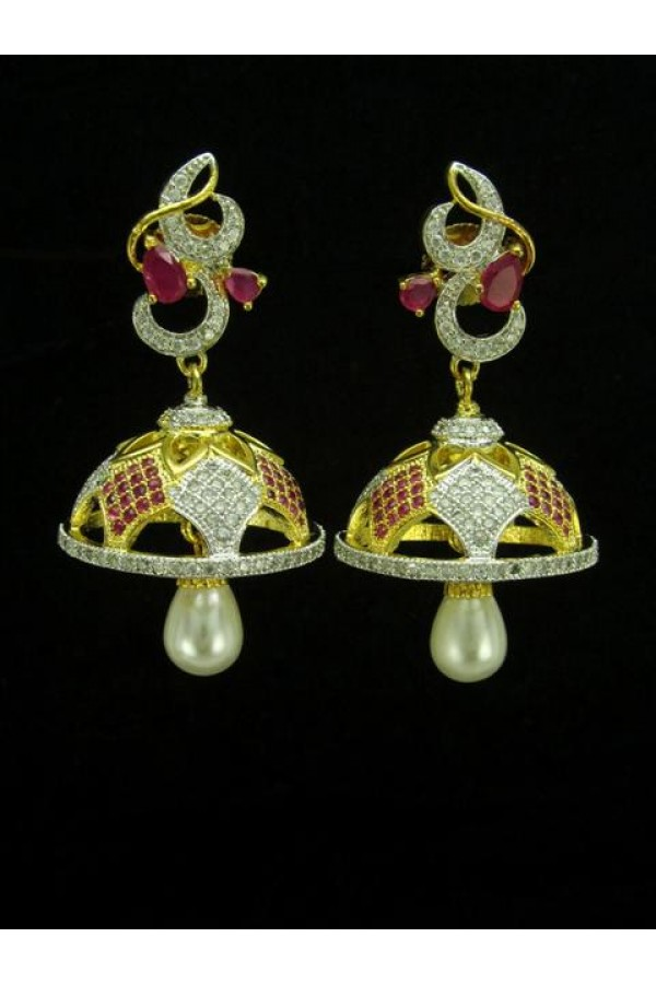 Designer Indian CZ Jhumka - 87451