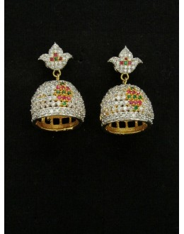 Designer Indian CZ Jhumka - 87478