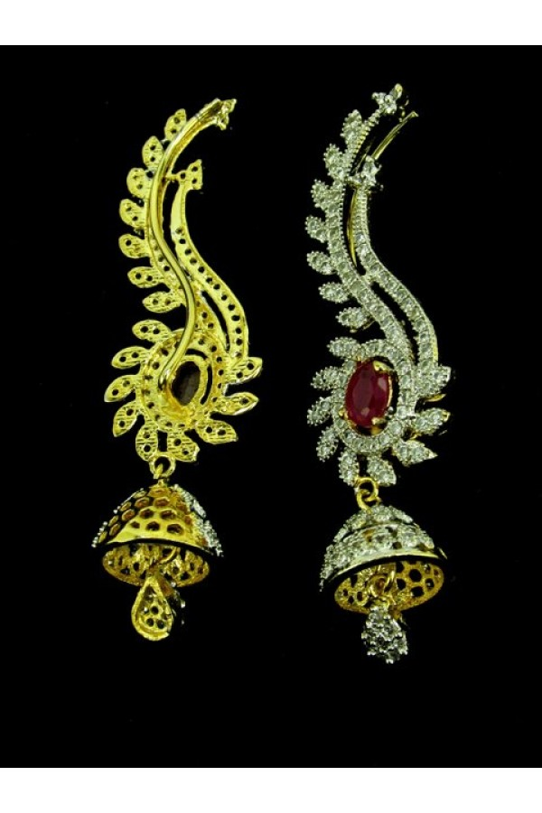 Designer Indian CZ Jhumka - 88076