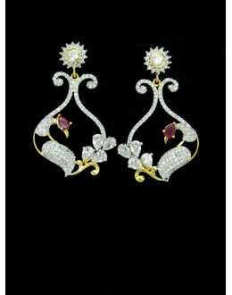 Designer Indian CZ Earring - 88868