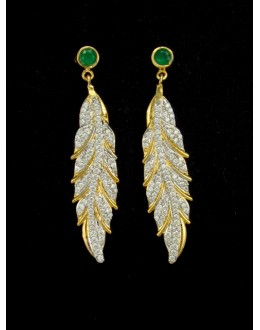 Designer Indian CZ Earring - 88875