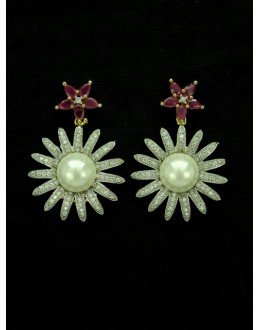 Designer Indian CZ Earring - 89112