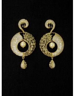 Designer Indian CZ Earring - 89130