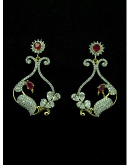 Designer Indian CZ Earring - 89428