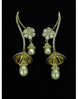 Designer Indian CZ Jhumka - 89566