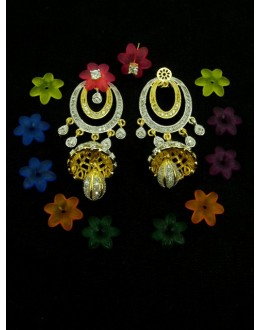 Designer Indian CZ Jhumka - 89577