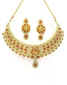 Designer Polki Necklace Set - 86796