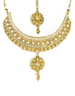 Designer Polki Necklace Set - 87729