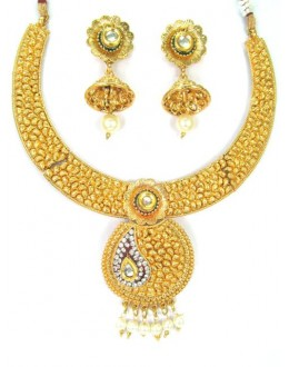 Designer Polki Necklace Set - 87759