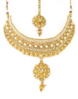 Designer Polki Necklace Set - 89065