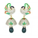Designer Diamond Studded Indian Fancy Traditional CZ Earrings - 85640 ( SD - AD Earrings Vol 9 )