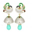 Designer Diamond Studded Indian Fancy Traditional CZ Earrings - 85642 ( SD - AD Earrings Vol 9 )