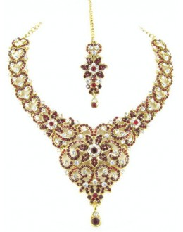 Designer Stone Necklace Set - 69166