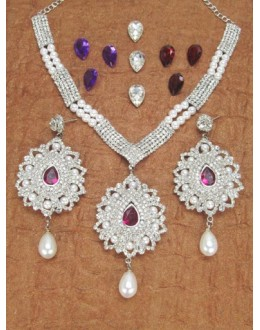 Designer Stone Necklace Set - 70525