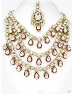 Designer Stone Necklace Set - 71865