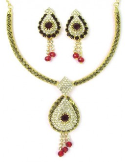 Designer Stone Necklace Set - 75356