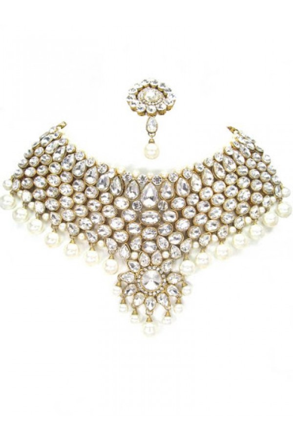 Designer Stone Necklace Set - 76800