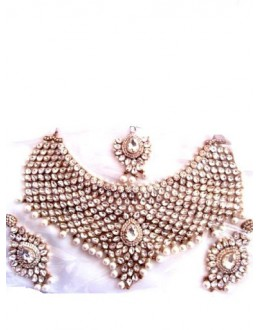 Designer Stone Necklace Set - 79995
