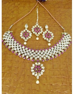 Designer Stone Necklace Set - 79998
