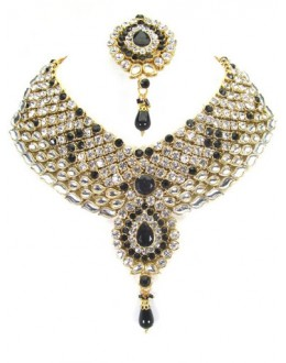 Designer Stone Necklace Set - 81929