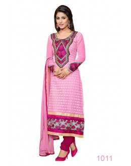 Eid Special Designer Pink Embroidered Party Wear Salwar Suits- 1011(SD-Heena)Karishma