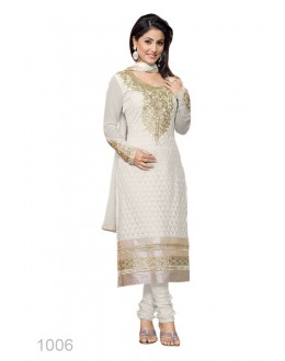 Eid Special Designer White Embroidered Party Wear Salwar Suits-1006(SD-Heena)Karishma