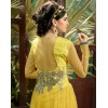Designer Fancy Attractive Yellow Soft Net Party Wear Gown-1011 ( SDF-Sayna )