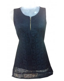 Designer Black Net Embroidered Party Wear Top - TOP22 (SD-FASHION)